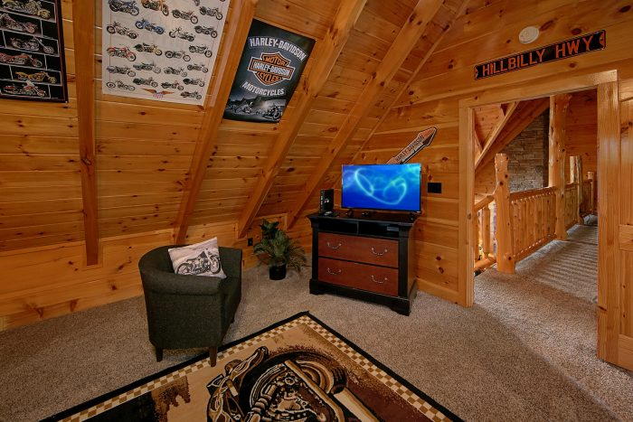 Harley Motorcycle Themed Room in Cabin - Chateau Relaxeau