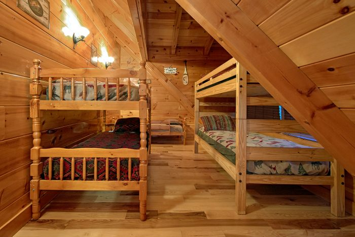 6 Bedroom Cabin with Bunk Bedroom for 6 guests - Chateau Relaxeau