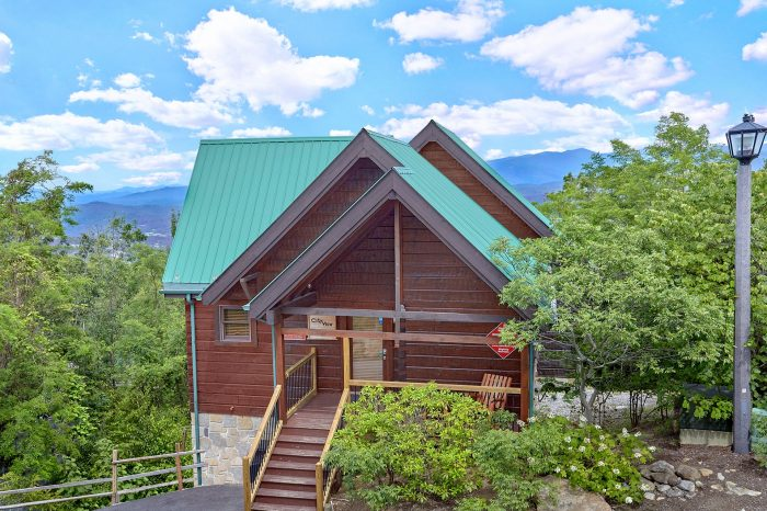 chalet overlooking gatlinburg smoky mountain village resort