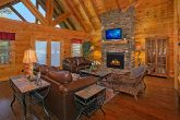 Spacious Living Room in Luxury 6 Bedroom Cabin