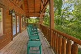 Luxury Cabin with Rocking Chairs and Wooded view