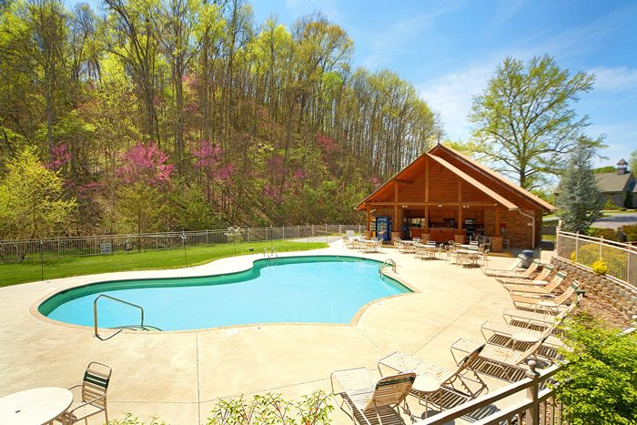 luxury Cabin with Resort Swimming Pool - C'Mon Inn