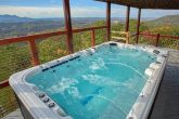 6 Bedroom Cabin with Swim Spa Tub on deck