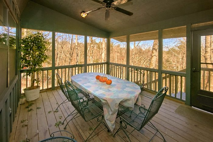 6 Bedroom Cabin with screened in porch - Country Oaks Lodge
