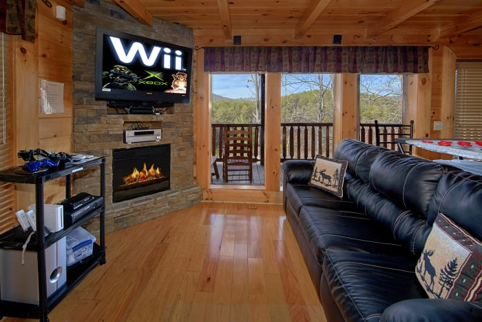 Luxury Cabin with WII Video Game and Fireplace - Dreamland