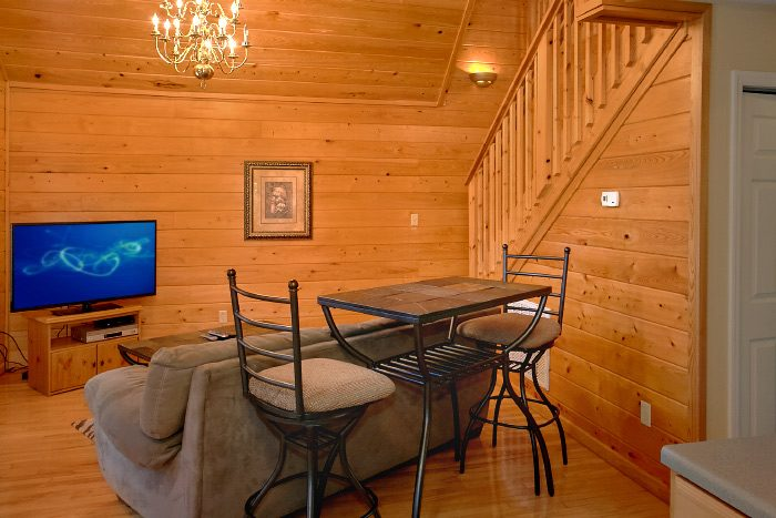 Honeymoon Cabin with Bistro Table Dining Area - Eastern Retreat