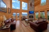 Luxurious Cabin with Stone Fireplace and Views