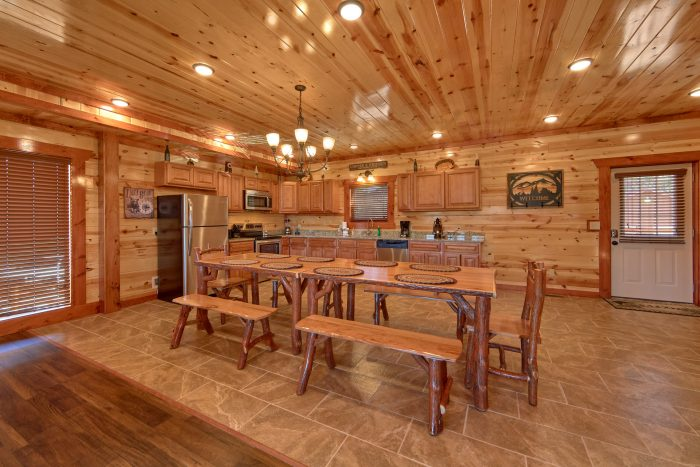 Large Open Kitchen that sits 14 - Family Fun Pool Lodge 1