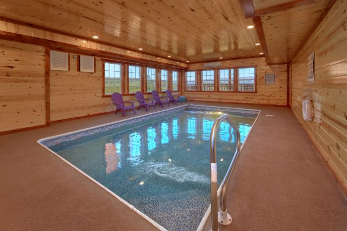 6 Bedroom Indoor Pool Cabin Sleeps 14 - Family Fun Pool Lodge 1