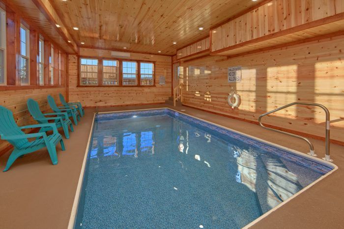 Indoor Pool Cabin with 6 Bedrooms Sleeps 14 - Family Fun Pool Lodge 2