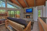 Cabin with Stone Fireplace and 2 TVs in Loft
