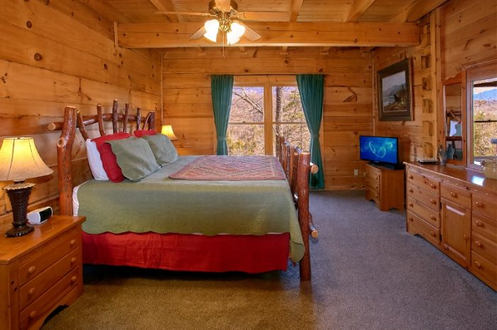 gatlinburg 3 bedroom cabin with main floor king gatlinburg views