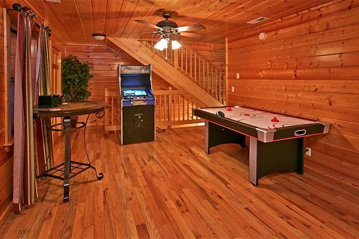 Cabin with arcade game and air hockey game - Great Aspirations