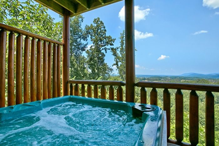 Cabin with 2 hot tubs - Great Aspirations