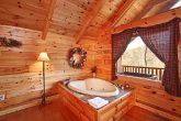 Heart Shaped Jacuzzi in Honey Moon Cabin