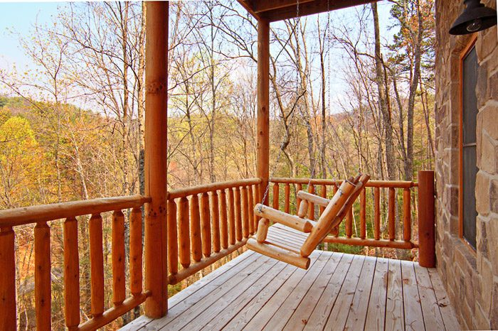 Romantic Porch Swing at Honey Moon Cabin - Hanky Panky