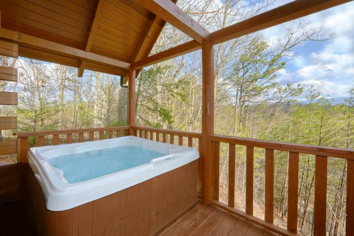 Large Outdoor Hot Tub with a View - Heaven's Gift