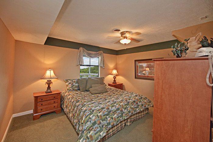 King Size Bedroom in Gatlinburg Cabin - Hidden Peaks