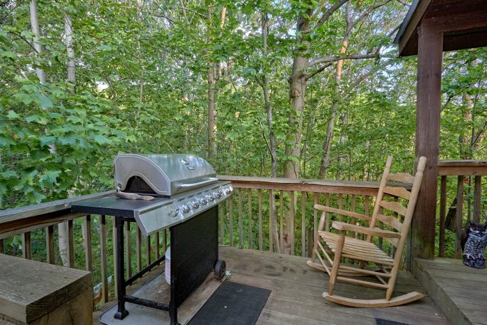 Out Door Cooking on Gas Grill - Hide-A-Way Point