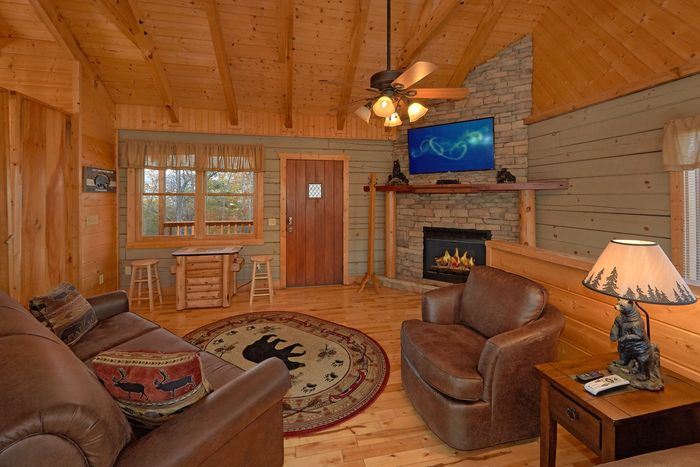 Wears Valley Cabin with an Fireplace - Hilltopper