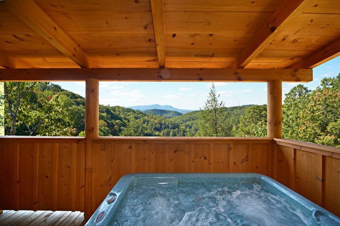 Hot Tub with Great Smoky Mountains Views - Hold Yer Horses