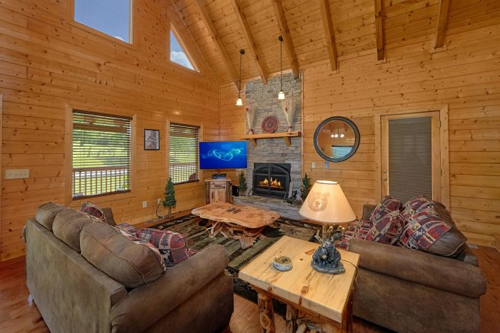 Wears valley cabin with stone fireplace - Honey Bear