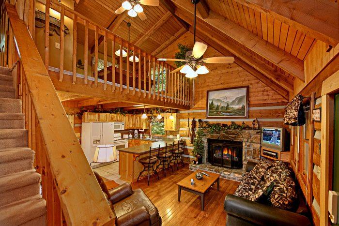 Cabin with Furnished Living Room - Honeysuckle Cottage