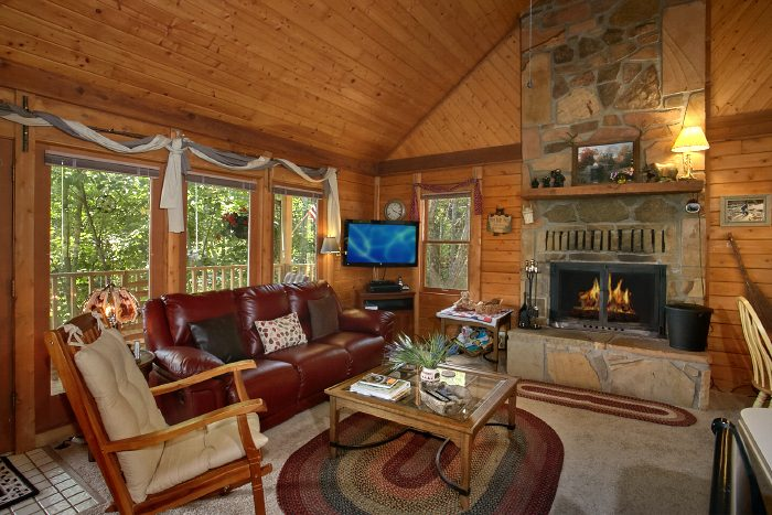 Private Cabin with Wood Burning Fireplace & View - Huckleberry Haven