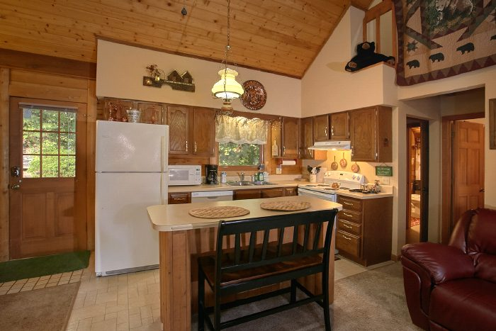 Cabin with Full Kitchen and Bar Seating for 6 - Huckleberry Haven