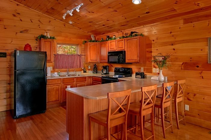1 Bedroom Cabin with Full Kitchen and Bar - I Don't Want 2 Leave