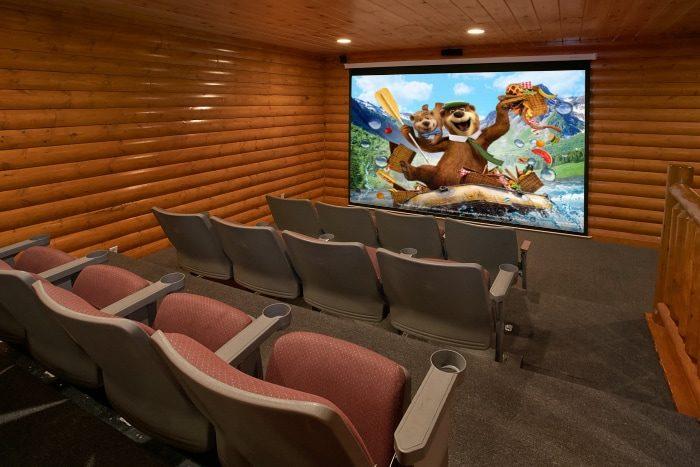 8 Bedroom Cabin Sleeps 28 with Theater & Pool - Indoor Pool Lodge