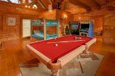 8 Bedroom Cabin Sleeps 28 wit Game Room