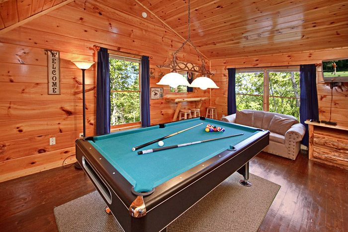 Cabin with a Pool Table in the Smoky Mountains - Just Breathtaking