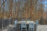Comfortable Outdoor Table on Large Deck