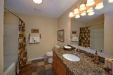 Pigeon Forge rental with luxurious bathroom