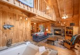 Cabin with Fireplace and Jacuzzi Tub