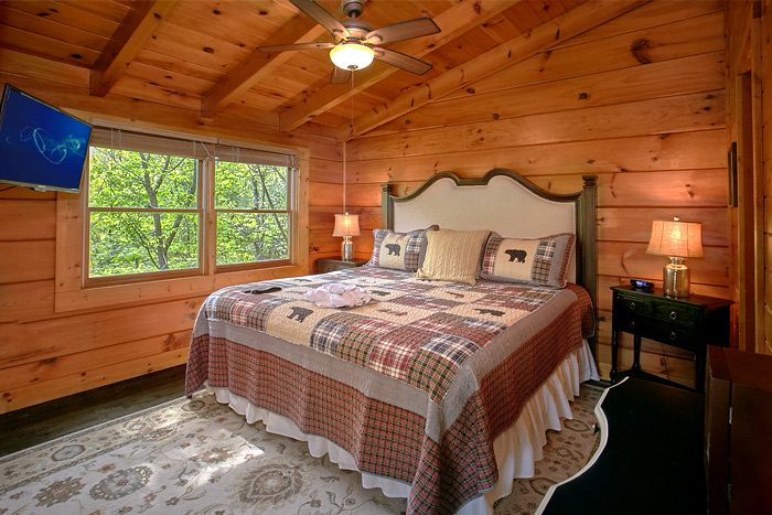 Luxury 2 Bedroom cabin with King Bed and Bath - Lucky to be with View