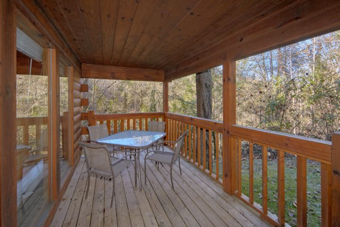Back Deck with Outdoor Eating - Making More Memories