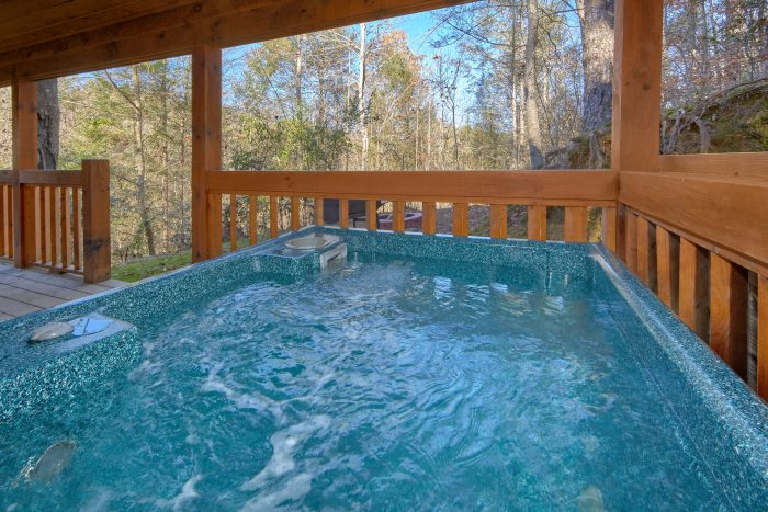 Private Hot Tub on Back Deck - Making More Memories