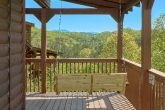 3 bedroom cabin with porch swing and views