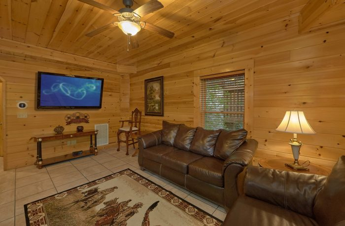 Out Door Seating with Views Gatlinburg Cabin - Mistletoe Lodge