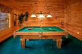 Cabin with game room and pool table