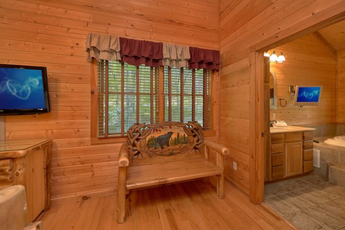 2 Bedroom cabin with a TV in each bedroom - Mountain Glory