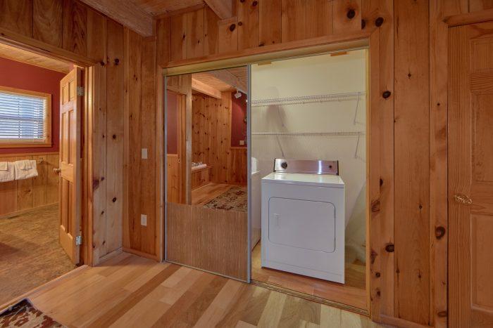 Full Size Washer & Dryer 1 Bedroom Cabin - Mountain Hideaway
