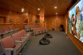 8 Bedroom Cabin Sleeps 24 with Theater Room