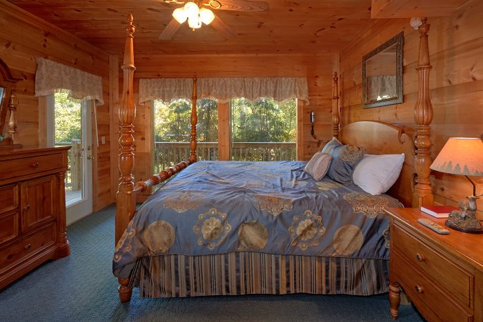 Cabin with Luxurious Master King Bedroom - Natures Majesty