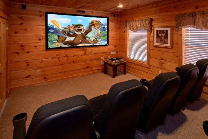 Premium 5 Bedroom Cabin with Theater Room - Natures Majesty