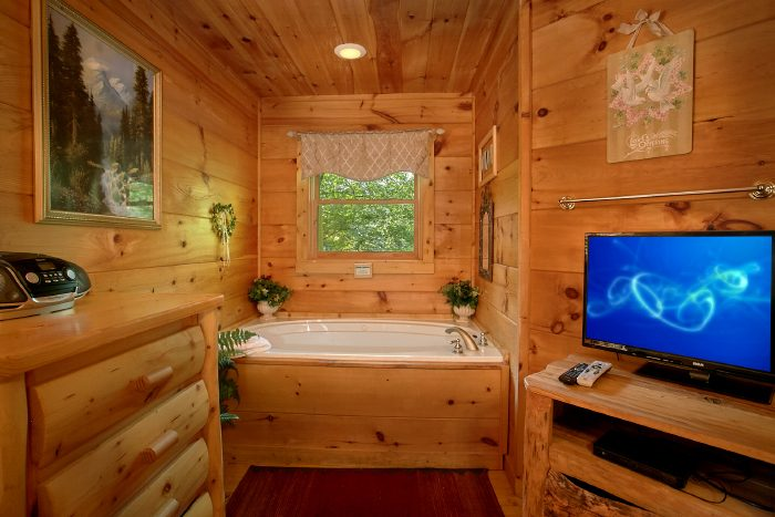Honeymoon Cabin with Private Jacuzzi Tub - Naughty Pines