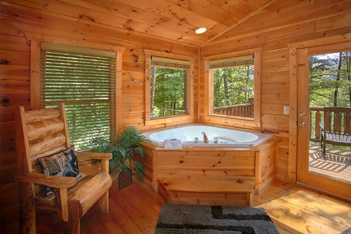 Cabin with Master Suite and Jacuzzi Tub - Nice N Knotty
