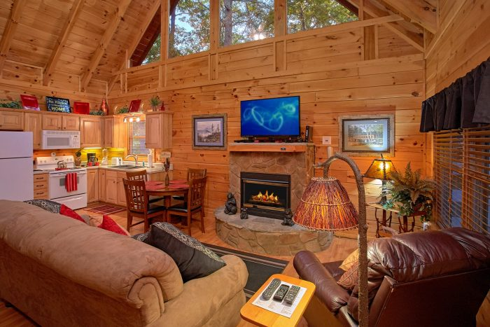 Luxury honeymoon cabin in the smokies our happy place for Gatlinburg dollywood cabins